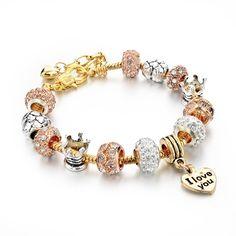 Inspirational Charm Bracelets (Gold)