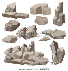 stock-vector-rocks-and-stones-elements-collection-set-vector-illustration-rocks-stones-icons-rocks-stones-413816977.jpg (450×470)