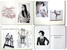 Scrapbooks with coco Chanel, dinosaur JR Yves saint Laurent and grace jones, in a collection of four really fashionable scrapbooks.