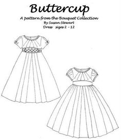 Buttercup - This is really a cute little girls dress pattern. by ammieiscool