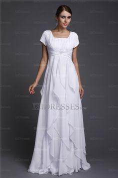 Sheath/Column Square Chiffon Prom Dresses - IZIDRESSES.COM