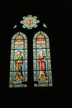 Glas in lood (stained glass) Church (Kerk) Guéret, Frankrijk (France)
