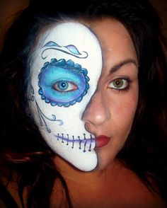 candy skull by kwinterburnmakeup on deviantART