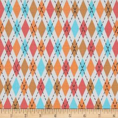 Michael Miller Socks Sorbet from @fabricdotcom  From Michael Miller, this cotton print is perfect for quilting, apparel and home decor accents.  Colors include white, grey, coral pink, aqua and tan.