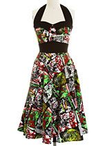 B-Movie Bombshell Retro Halter Dress at ShopPlasticland.com