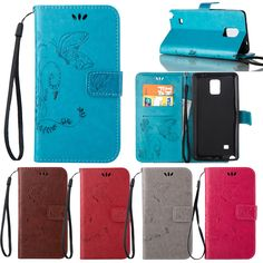 Luxury Embossing Pattern Wallet PU Leather Case for Samsung Galaxy Note 4 N9100 with Stand&Card Holder Phone Bag Flip Cover Case