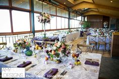 Widescape of the entire wedding reception. Rustic purple and green inspired with a whimsical feeling to the experience. @janaeshields #reception Location Thomas Fogarty