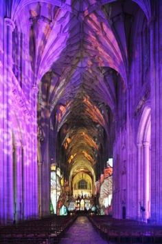 Chronicles of Light at the 11th Century Winchester Cathedral, Hampshire, UK