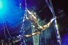 Aerial silks dancing
