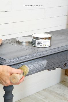 Crea Decora Recicla by All washi tape Chalk Paint Projects, Chalk Paint Furniture, Hand Painted Furniture, Refurbished Furniture, Upcycled Furniture, Furniture Projects, Furniture Makeover, Vintage Furniture, Diy Furniture