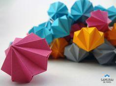 Mini diamantes Samurai, Origami 3d, Paper Crafts, Mini, Paper Engineering, Papercraft, Crafts, Manualidades, Diamonds