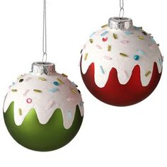 Sprinkles Ball Ornament - this would make a great DIY. You could even do this on ceramic ornaments. Noel Christmas, Christmas Balls, Homemade Christmas, All Things Christmas, Winter Christmas, Ornament Crafts, Diy Christmas Ornaments, Christmas Projects, Holiday Crafts