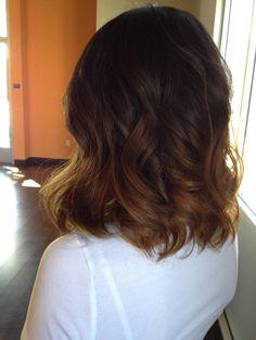 Ombre on medium length hair. Love!