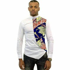 Shirt, Asymmetrical Men's African Shirts, Men Kitenge Dashiki Shirt, Slim Fit for Kshs. African Fashion Designers, African Men Fashion, Africa Fashion, African Wear, African Dress, African Women, Mens Fashion, African Style, African Dashiki