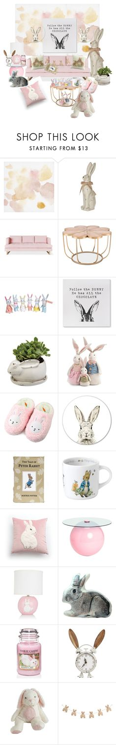 """Bunny-ish"" by corina-orosz ❤ liked on Polyvore featuring interior, interiors, interior design, home, home decor, interior decorating, Gus* Modern, Wedgwood, Alex Marshall Studios and Pier 1 Imports"