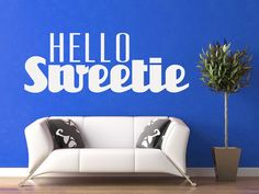 Hello Sweetie  Dr Who  Wall Vinyl  First Writing by WallsOfText, $44.95