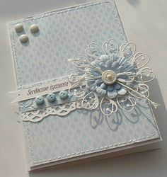love, life and crafts Rudlis: Tic Tac Toe for Our Creative Corner ---------------------------------------- This color is so gentle❤ Memory Box Cards, Shabby Chic Cards, Kanzashi, Beautiful Handmade Cards, Marianne Design, Card Making Inspiration, Pretty Cards, Kirigami, Cool Cards