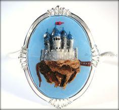 Floating Castle Fantasy Cameo Bracelet Handmade by Outpost8, $45.00