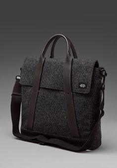 Jack Spade waxed wool charcoal flag tote - Gifts for Guys - Gift Ideas for Men - Gifts for Him
