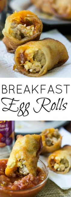 Breakfast Egg Rolls are a fun way to switch up your breakfast routine! AD #CampbellSavings