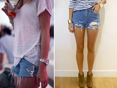 Studded Denim Shorts. So subtle yet so cute. Consider this done.