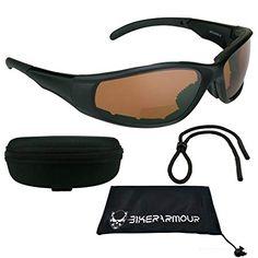 78ed35de635 Motorcycle Bifocal Safety Sunglasses Padded 3.00 for Men   Women. ANSI  Z87.1 Blue