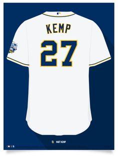 Padres Matt Kemp Jersey Poster