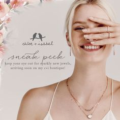 Stay tuned for NEW Chloe + Isabel – coming soon to my Online Boutique! tinasierra.chloeandisabel.com