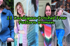 Hello friends addicted to crochet, today I am offering for you 11 models of Crochet Cardigan. There are 11 free patterns to choose the model that combines with your body and style. I love free empl… Crochet Cardigan Pattern Free Women, Crochet Patterns Free Women, Crochet Baby Cardigan, Booties Crochet, Crochet Jacket, Knitting Patterns Free, Free Crochet, Free Pattern, Crochet Sweaters