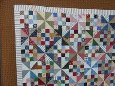 Patches and Pinwheels free pattern...this would be a real mind-blower set on point!