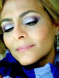 Look em lilás, lavanda e roxo Instagram: makeupbyaldalyra