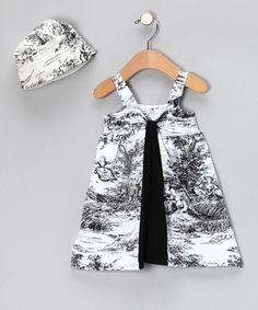 Take a look at this Texas Toile Farmer's Daughter Dress & Beanie - Toddler by Country Baby on #zulily today!