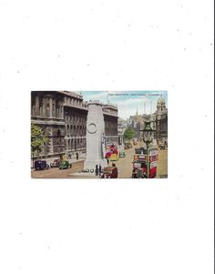 Posted with Hand Written Message 4 Pence Stamp FREE Shipping to USA London 1961 Art Postcard of Parliament Square Historical Ephemera