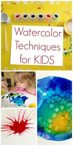 Watercolor Techniques for Kids - Experimenting with Different Techniques