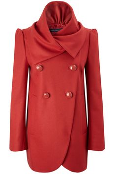 New French Connection Wool Blend Fluted Coat