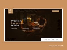 Lounge Bar Home Page | WIP by Erik Padamans #Design Popular #Dribbble #shots