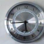 cool steel clock!