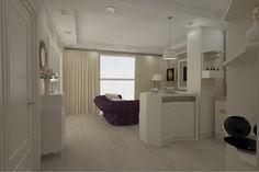 Design interior apartament open space realizat in stil New Clasic de lux in Constanta .