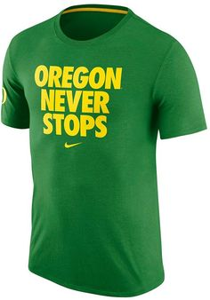 You'll achieve slam-dunk style wearing this men's Nike Oregon Ducks tee. PRODUCT FEATURES Crewneck Short sleeves Cotton Machine wash Imported