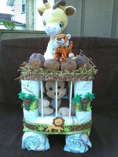 I made this Monkey in a cage for one of my showers