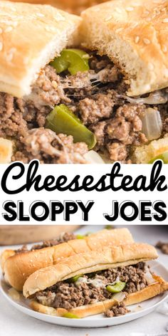 This Philly Cheesesteak Sloppy Joes recipe is easy to make and ready in 20 minutes. These cheesesteaks are some serious comfort food that the entire family will love! Budget Dinners, Easy Budget, Dinner On A Budget, Budget Recipes, Grill Recipes, Side Dish Recipes, Slow Cooker Recipes, Appetizer Recipes, Cooking Recipes