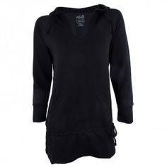 Black hooded top