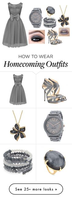 """"" by giuliacarolline on Polyvore featuring Nine West, Ippolita, Effy Jewelry, Emily & Ashley and Jimmy Choo"