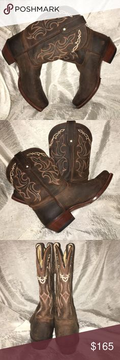 💥FLASH SALE 💥Tony Lama Taos Leather Boots Get an authentic look in the Tony Lama VF6007 western boot. Made with premium leather, this cowgirl boot features intricate embroidery, a cutter toe and a dress heel with a spur ledge.  ¾ welt leather outsole 43 Heel, dress with spur ledge Cushioned footbed Dual-side, pull-on loops E Toe, cutter Embroidery details Heel height: 1 ⅜ inches Leather lining Leather upper Pull-on entry Shaft height: 11 inches Single row welt stitch construction Style…
