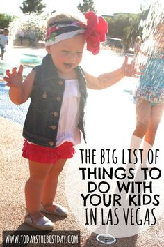 A fun list of things to do with kids in Las Vegas - great for locals or visitors! #lasvegas #kidactivities