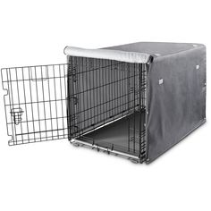 Grey Dog Crate Cover Roll-up doors feature easy-to-use zippers for sociability and easy access Works with You & Me and Crates, available and sold separately Puppy Care, Pet Puppy, Pet Dogs, Pets, Dog Crate Cover, Airline Pet Carrier, Roll Up Doors, Grey Dog, Dog Care Tips