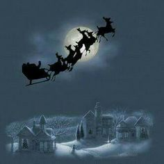 'Twas the Night Before Christmas Christmas Scenes, Noel Christmas, Father Christmas, Vintage Christmas Cards, Christmas Pictures, Winter Christmas, The Night Before Christmas, Merry Little Christmas, Gif Noel