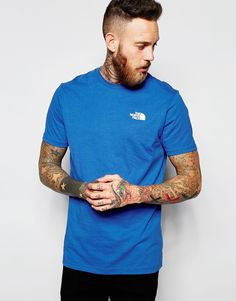 "T-shirt by The North Face Soft-touch jersey Crew neck Printed logo Regular fit - true to size Machine wash 100% Cotton Our model wears a size Medium and is 191cm/6'3"" tall"