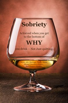 #Sobriety from #alcoholism comes from getting to the reasons WHY you drink.