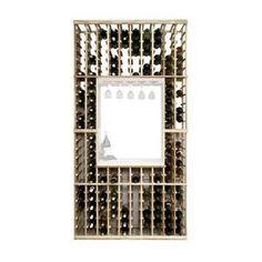 Matson 24 Bottle Floor Wine Bottle and Glass Rack Wine Bottle Rack, Wine Glass Rack, Bottle Wall, Wine Racks, Wine Cellar Innovations, Wine Cellar Basement, Hanging Wine Rack, Wine House, Wine Fridge